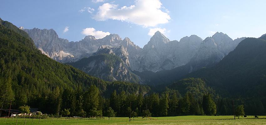 Montañas y valles en Eslovenia