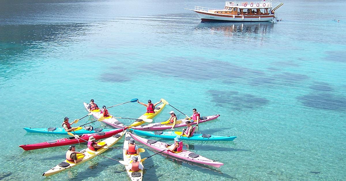 Voyage en kayak Turquie : Kayak de mer en Lycie