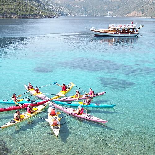 Kayak de mer en Lycie