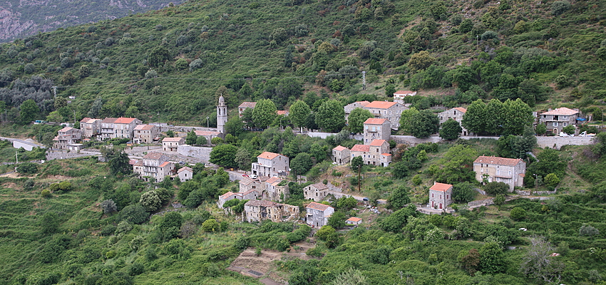 A Corsican village, clinging to the mountain