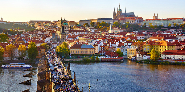 The Charles Bridge and the old city