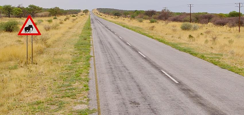 Carretera en Namibia