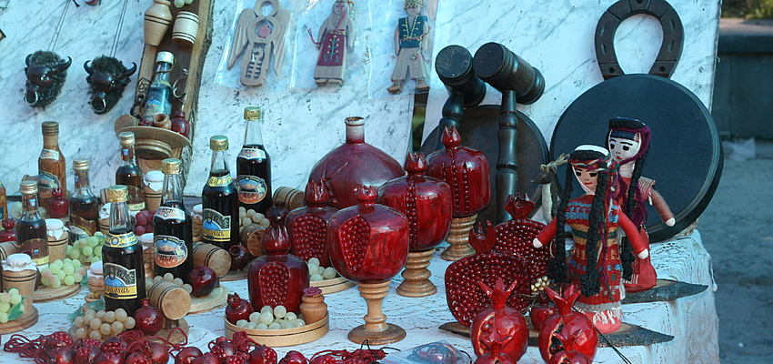 Items for sale at a market in Armenia