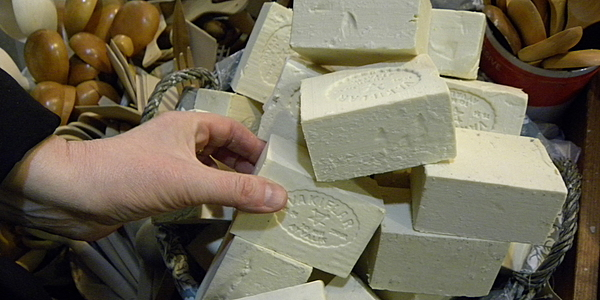 Soaps on the displays of the market in Kadiköy