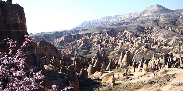 Valle rojo en Capadocia