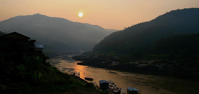 Lever de soleil à Mekong