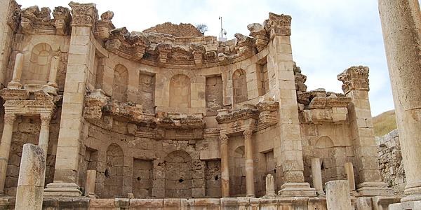 Sur le site archéologique de Jerash