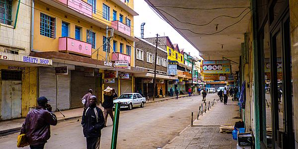 En las calles de Nairobi