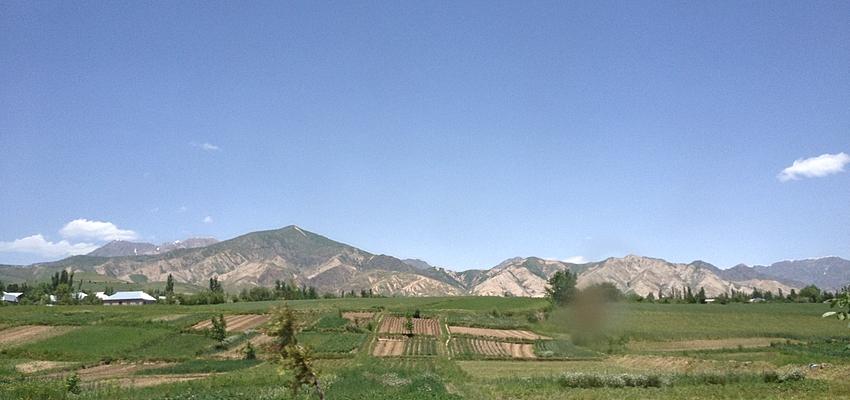 Los campos al salir de Dushanbé