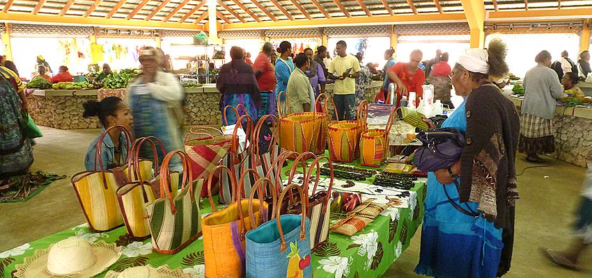 Marché artisanal à Lifou
