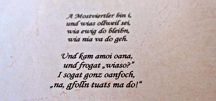 Un exemple de dialecte austro-bavarien