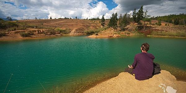 Les pozo azul près de Villa de Leyva