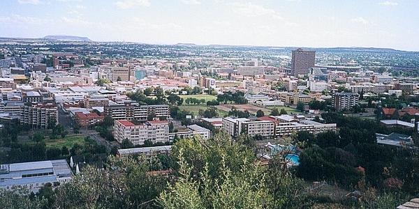 Vue sur Bloemfontein