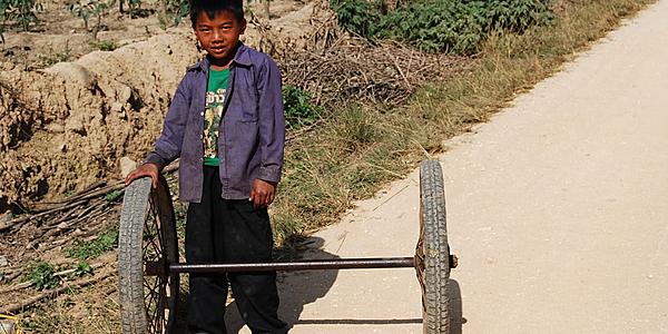Dans la campagne au Laos