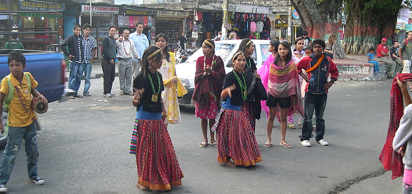 Des danseuses au Népal