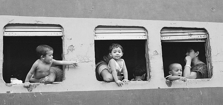 Un train au Bangladesh