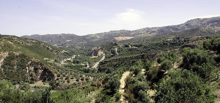 Vue du parc botanique de Crète (région de la Canée)