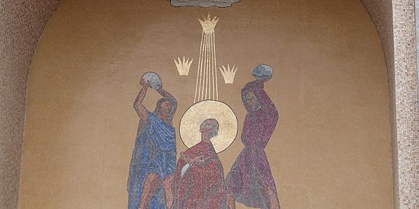Mosaico sobre la historia de la Biblia