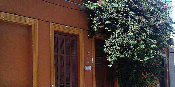 Casas coloniales de Montevideo.