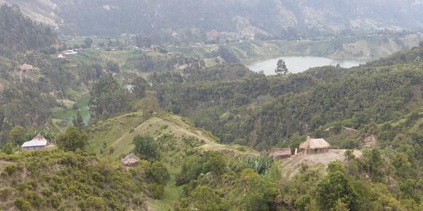 El cráter del monte Wenchi