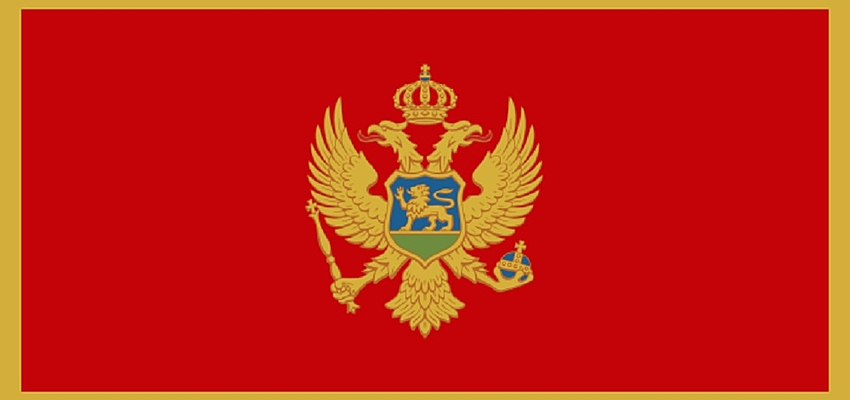 Le drapeau du Monténégro, adopté en 2004