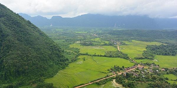 Los campos de Vang Vieng