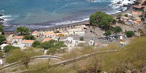 Las calles de Ribeira Grande desde la fortaleza