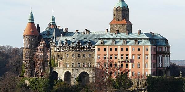 Le château de Ksiaz dans le région du train nazi