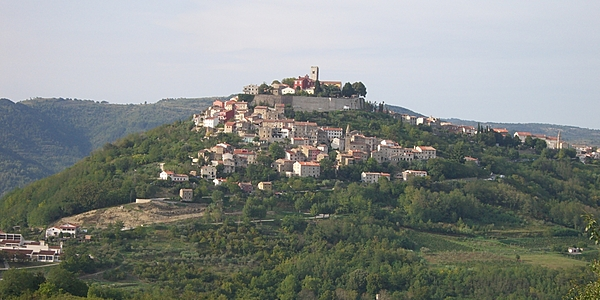 Motovun, west of Buzet