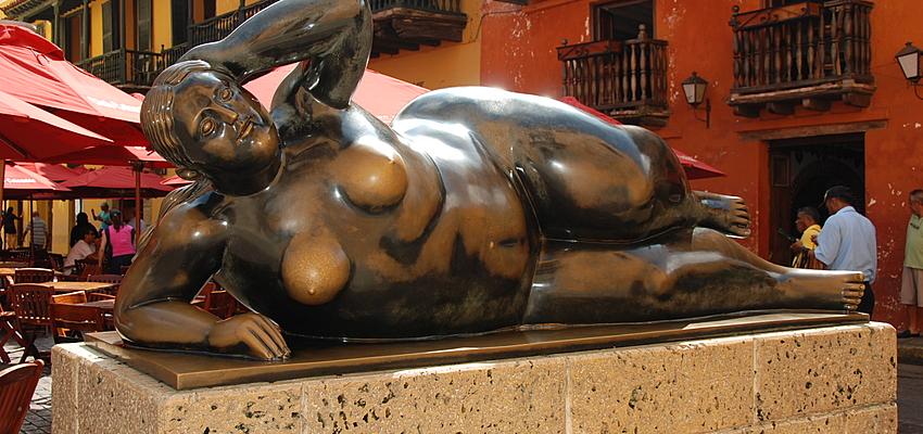 Las famosas curvas del artista Botero