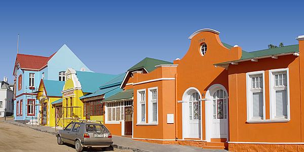 Façades colorées de Lüderitz