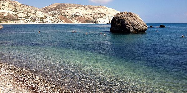 Le rocher qui a donné son nom à la plage