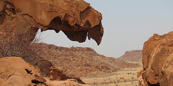 Paysage aride de Twyfelfontein