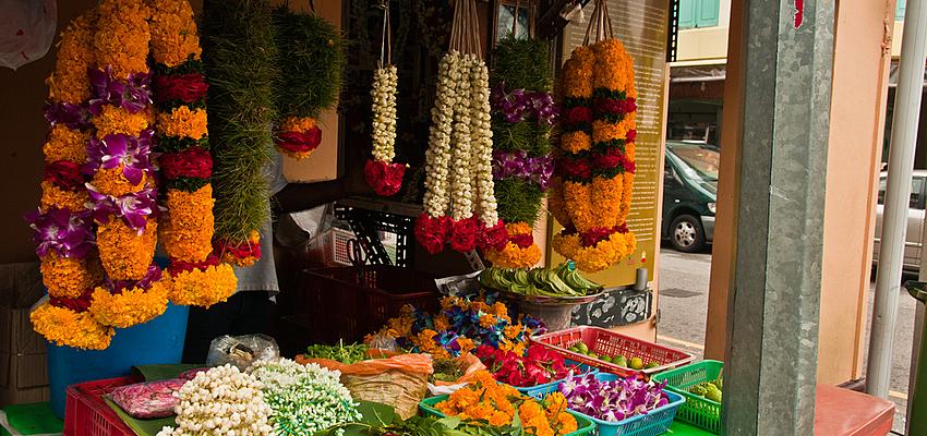 Fleurs vendues à Little India