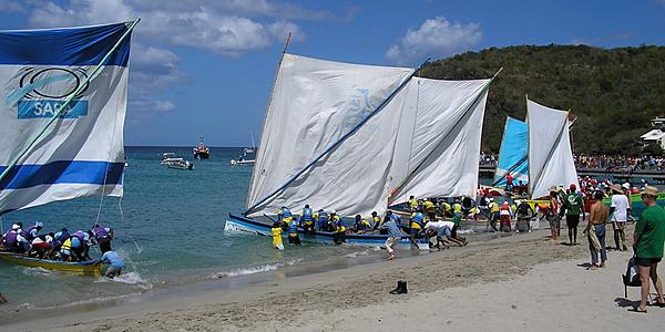 Départ des yoles, Martinique