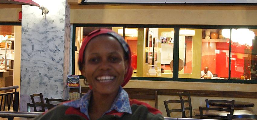Junge Frau aus Botswana