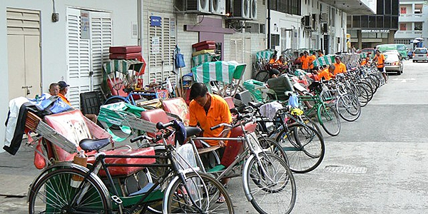 Les taxis à bicyclette de Singapour