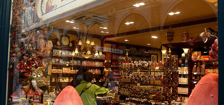 Boutique de chocolats à Bruxelles
