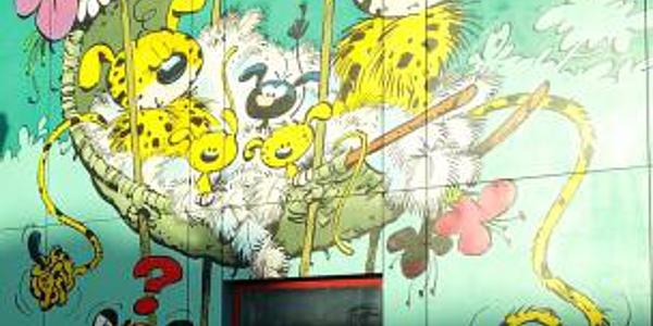 Fresque Marsupilami à Laeken