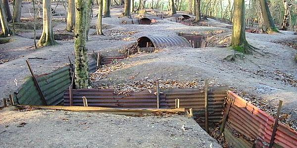 Les tranchées d'Ypres