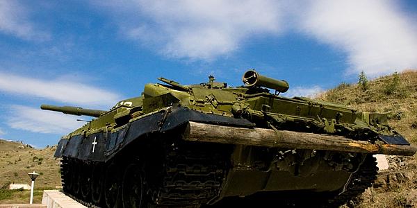 Tank mémorial de la guerre, à Soushi