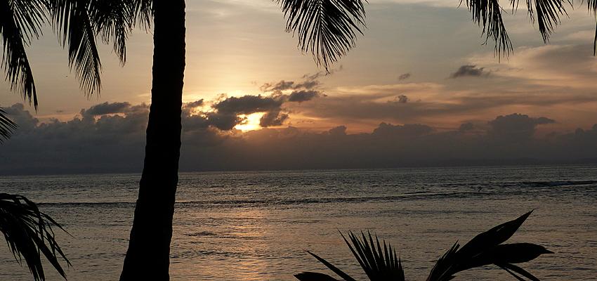 Coucher de soleil sur les Bahamas