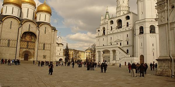 Plaza de la catedral en el Kremlin