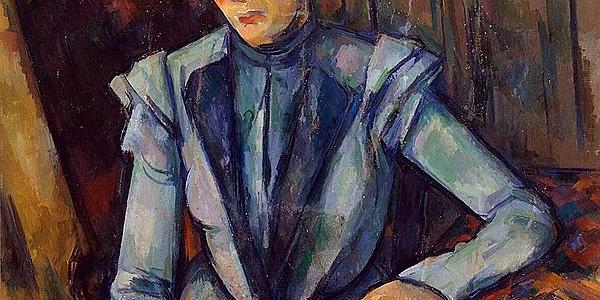 Portrait of Lady in Blue - Paul Cézanne