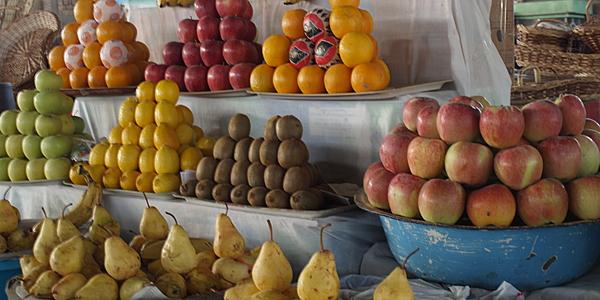 Uno de los mercados más agradables de Uzbekistán