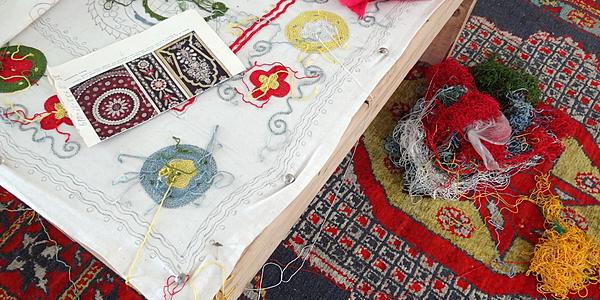 Todo un trabajo para representar los distintos motivos sobre la seda