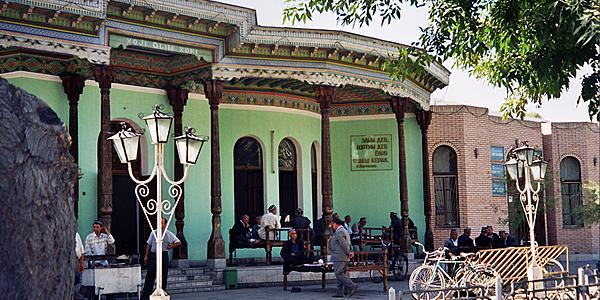L'une des chaïkhanas, sorte de salon de thé, de Kokand