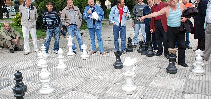 Joueurs d'échec en plein air