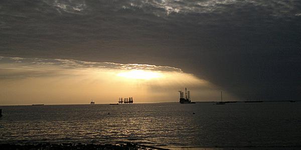 Coucher de soleil à Port-Gentil