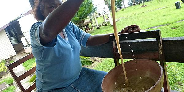 La préparation du kava
